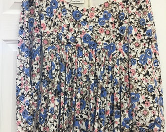 Claudia by George Halley vintage 1960's boho floral empire maxi DRESS