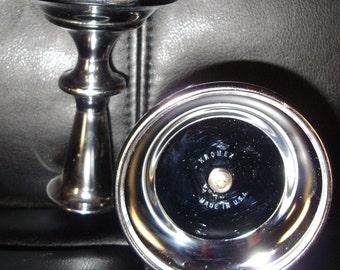 Vintage, Kromex, Candle holders, Chrome, 1950's
