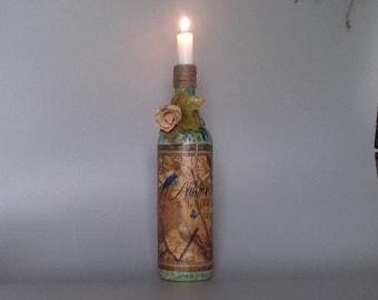 Autumn Hush Bottle Candle Holder