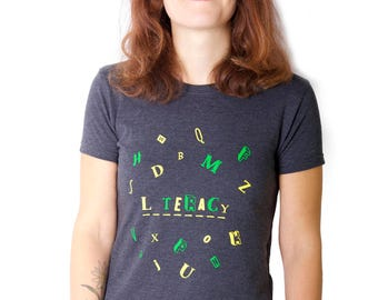 100% recycled t-shirt - Literacy
