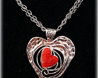 HEART salt red wicca amulet love