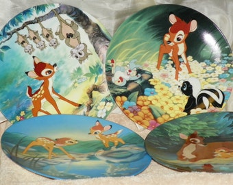 Walt Disney- Bambi and his friends cute as can be and all with C.O.A Set of 6