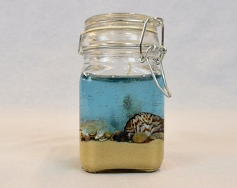 By the Seashore Gel Candle, Hinged Jar Gel Candle, Pineapple Scented