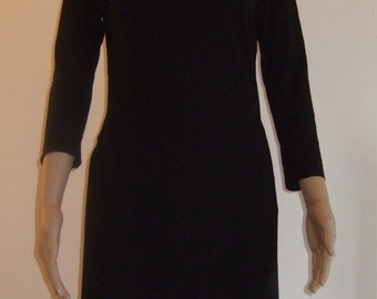 The tunic split on the coast beautiful black soft and comfortable Jersey