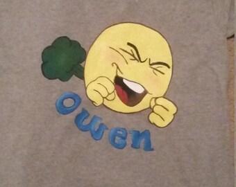 Emoji Boy Painted Shirt