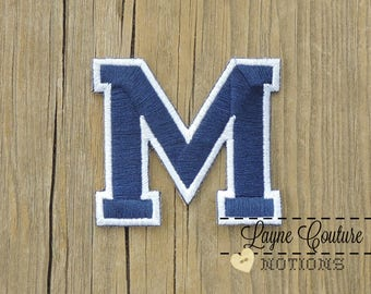 Block M Blue and White Patch