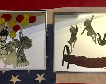 Fun Brytone Mechanical Mirror Works Decorative Kids Room Decor Set of Two