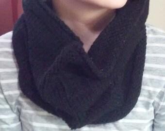 Black Knit Cowl