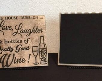 Love Laughter Wine 6 x 6 Ceramic Tile