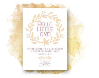 Baby Shower Invitation, PINK BABY Shower Baby Shower Invitation, Printable,  Baby Shower, Baby Girl, Printable Invitation