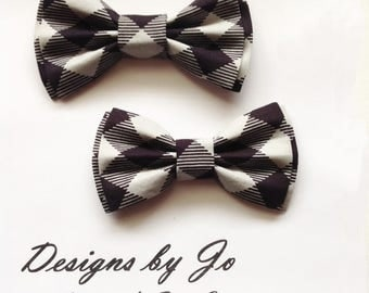 Dad and Son Bow Ties,Black Plaid Bow Ties Father Son Bow Tie,Mens Bow Tie,Formal Bow Tie,Wedding Bow Tie,Mens Bowtie, Tie,Boys Bow Tie DS685