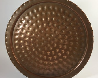 Hammered Copper Plate #1431