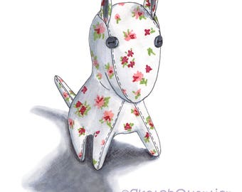 Hand Painted Cute Dog Toy digital clipart with transparent background for instant digital download.