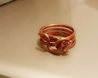 Handcrafted copper ring - Vintage, Egyptian, steampunk, hand made, gold, men or women's 7th anniversary