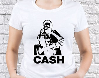 Johnny Cash/ Middle Finger/ women tshirt/ Johnny Cash fan/ Johnny Cash gift/ Johnny Cash shirt/ Any Occasion Gift/ American Classic / (JC01)