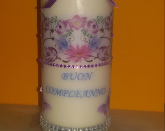 Candle decorated suitable for any occasion