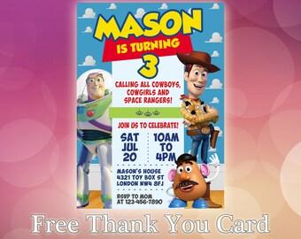 Toy Story Invitation / Toy Story Birthday Invitation / Toy Story Woody invitation / Buzz invitation / Toy Story Printable Invite / TS10