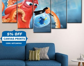 Finding Nemo Dory Finding Nemo Hank And Dory Poster Baby Room D Cor