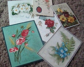 SALE 6 Victorian Cards (Floral)