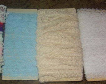 19 Yards of Various Lace Trims