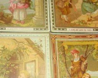 SALE 4 Pieces of Victorian Scrap (Children)