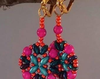 Athena Earrings, designed by Deb Roberti