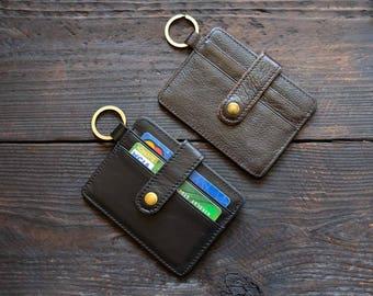 Credit Card Holder Mini Card Holder Leather Card Holder Mens Wallet Brown Leather Wallet Black Leather Wallet Gif For Him