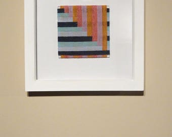 Woven Wall Art / Yarn Wrapping / Fibre Art / Yarn Weaving