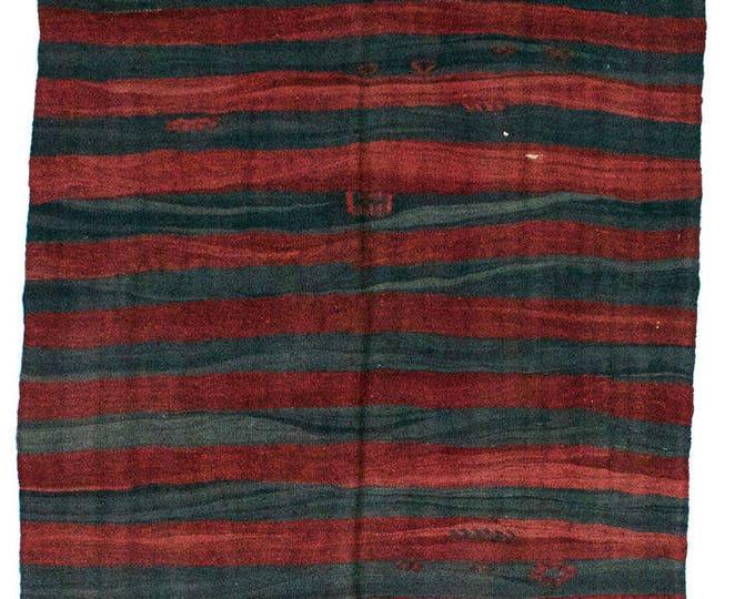 175 cm x 130 cm/ 5,74 x 4,26 ft / VINTAGE OUSHAK RUG Kilim Rug Oushak Rug Handmade Turkish Rug Vintage Fethiye Kilim - Free Shipping