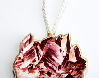 Red Crystal Formation Ornament
