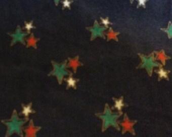 Blue Stars  Pincord Fabric Wale cord