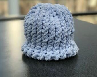 Super soft knit baby hat (Medium) Baby Blue