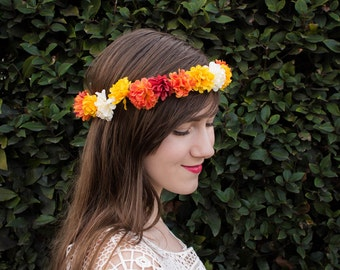 Sunrise Chrysanthemum Flower Crown
