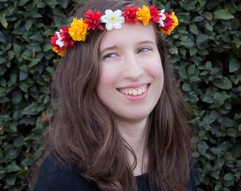 Autumn Chrysanthemum Flower Crown