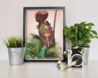 Botanical Print - Plant Poster - Tropical Wall Art - Botanical Poster - Plant Wall Art - Tropical Print