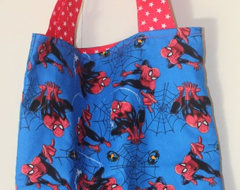 Spiderman Tote Library Market Bag