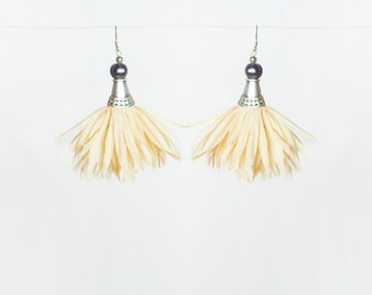 Petal Earrings in Light Yellow