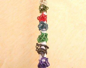 """Ring """"Doodle"""" in hemp adjustable craft 12 colors. Canapart"""