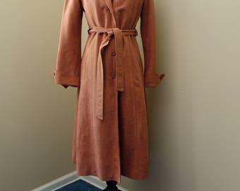 Vintage 1970s blush trench coat