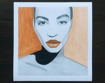 Female Brilliance Print, Woman Portrait, Inspirational Wall Art