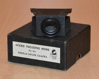 Vintage Micro Focusing Hood for the Korelle Reflex Camera 35 mm