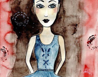 Art Print Ballet Dancer Watercolour Sketch