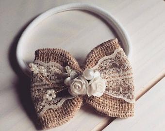 Gorgeous baby bow headband
