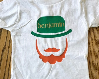 Boys Personalized Leprechaun Shirt