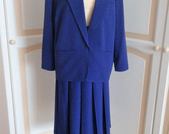 Jacques Vert Royal Blue  Costumes  size 16 Vintage