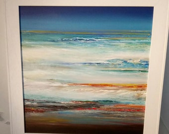 Abstract seascape acrylic