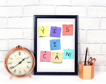 Motivational Quotes - Art Print - Digital Downloads - Office Prints - Watercolors - Digital Art - Instant Download  - Printables