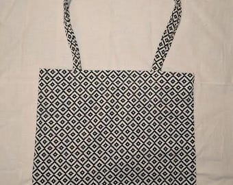 Black and White Patterned Tote Bag