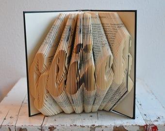 Luck, folded book, book folding art, gift, wish