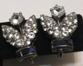 flower bud clip earring